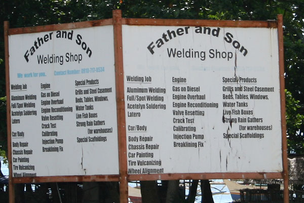 Welding Shop auf Palawan