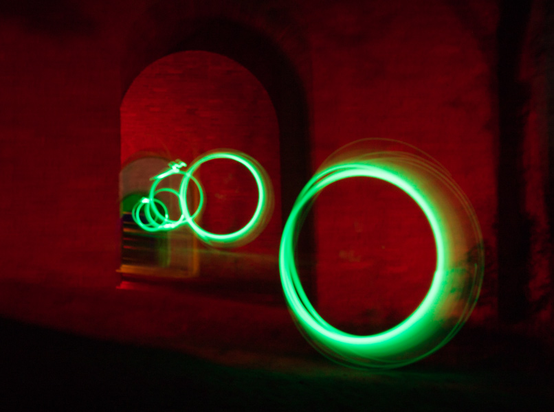 Lightpainting in Steinbergen