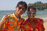 Inder am Strand von Baga