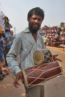 Trommel-Verkäufer in Anjuna