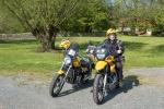 Mit Motorrad unterwegs