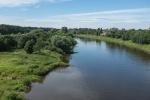 Die Weser am Wasserstraßenkreuz in Minden