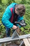 Draisinenfahrt - Rinteln - kleine Reparatur