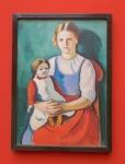 August Macke - Blondes Mädchen mit Puppe