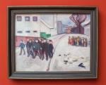 Edvard Munch - Dorfplatz in Elgersburg