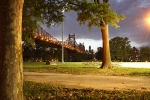 Abendstimmung - Queens Bridge in New York